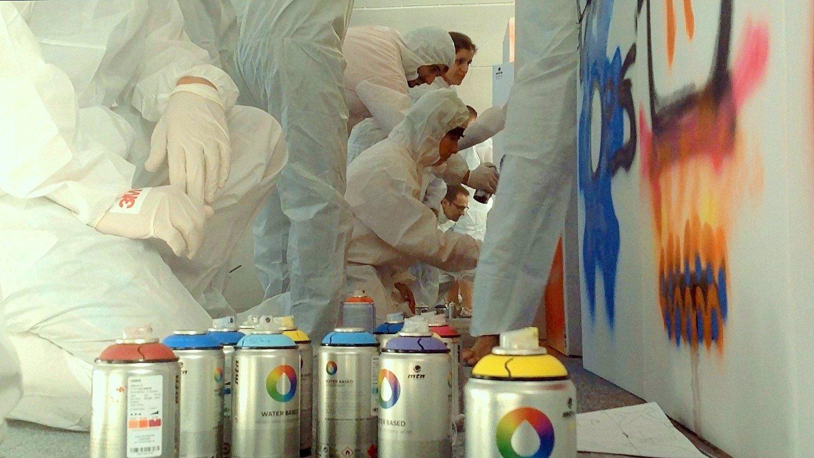 art graffiti activity team building