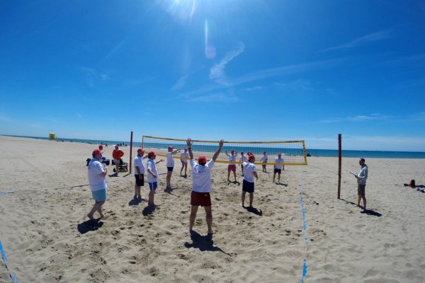 beach activities team building castelldefels