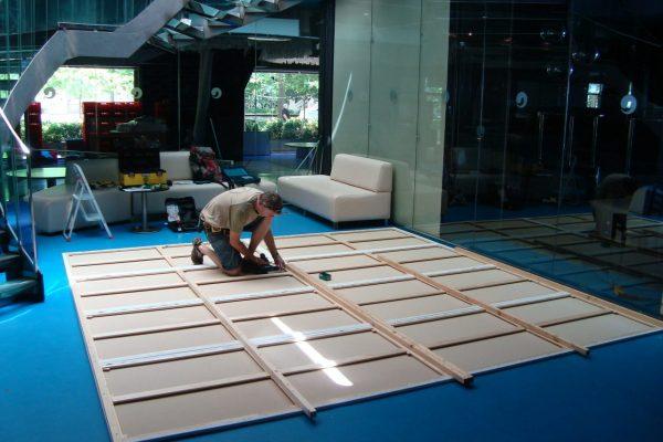 preparing team building art
