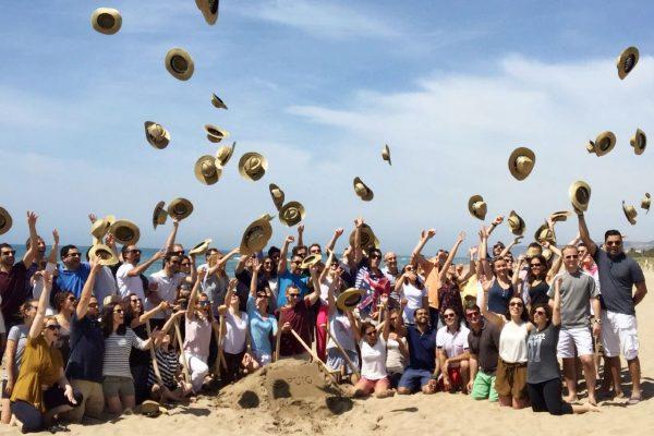 Sand sculptures Team building activity barcelona