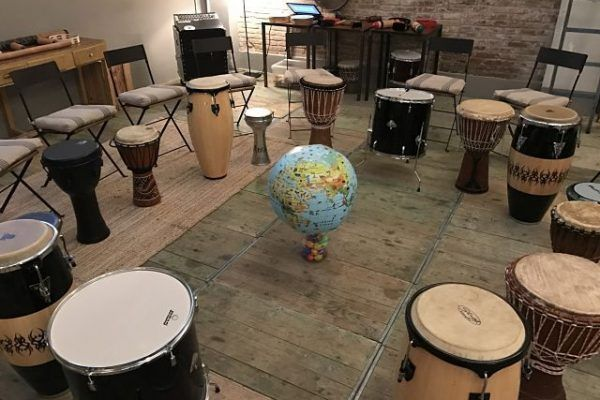 drum-circle_-team building percussion workshop barcelona