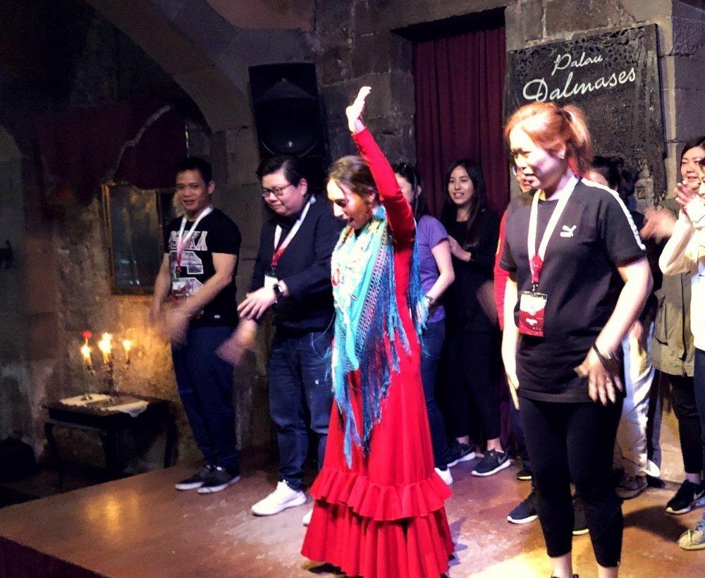 Flamenco team building activity Barcelona