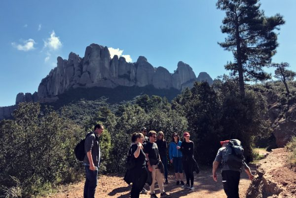 hiking team building activity Montserrat