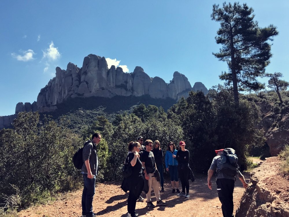 hiking team building activity Montserrat