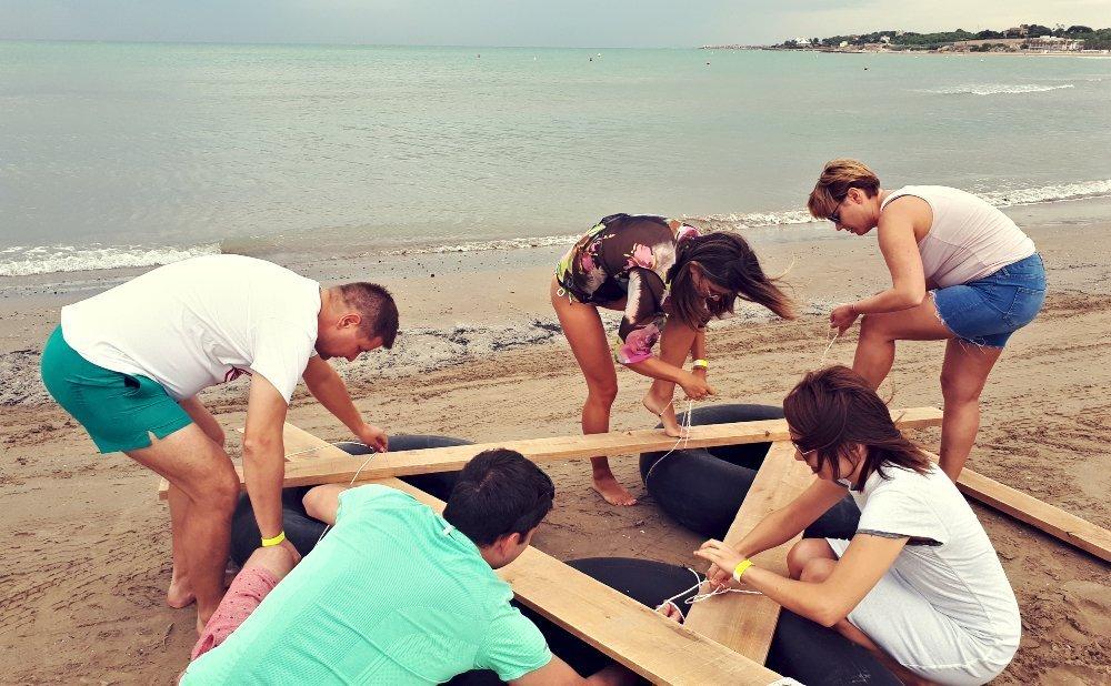 Raft construction Team building