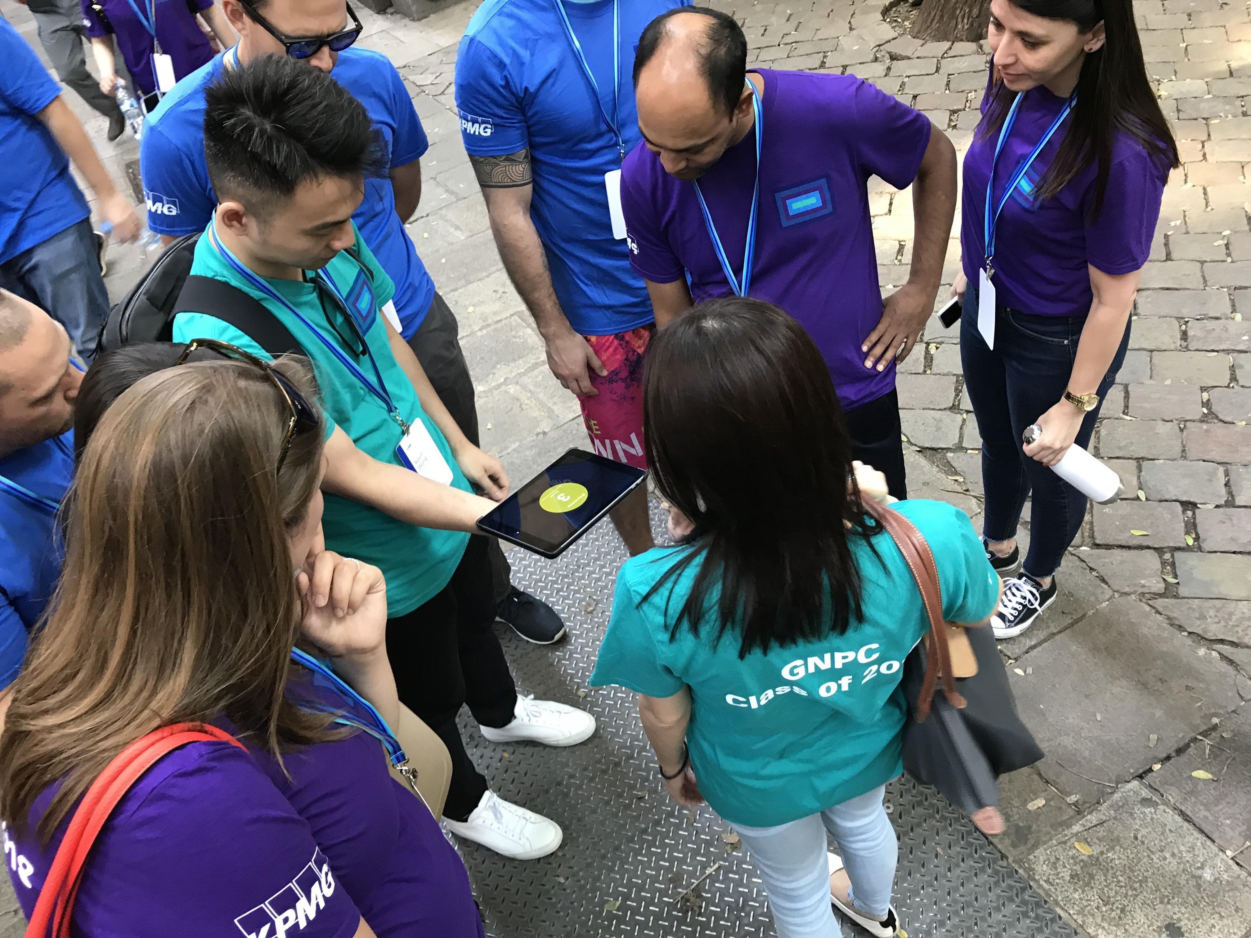 iPad race team building barcelona