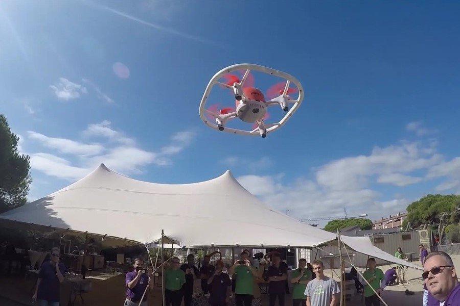 Drone team building challenge