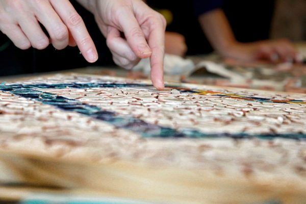 mosaic art activity team building barcelona