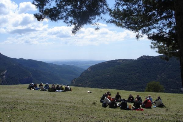 outdoor conference meeting experience into nature