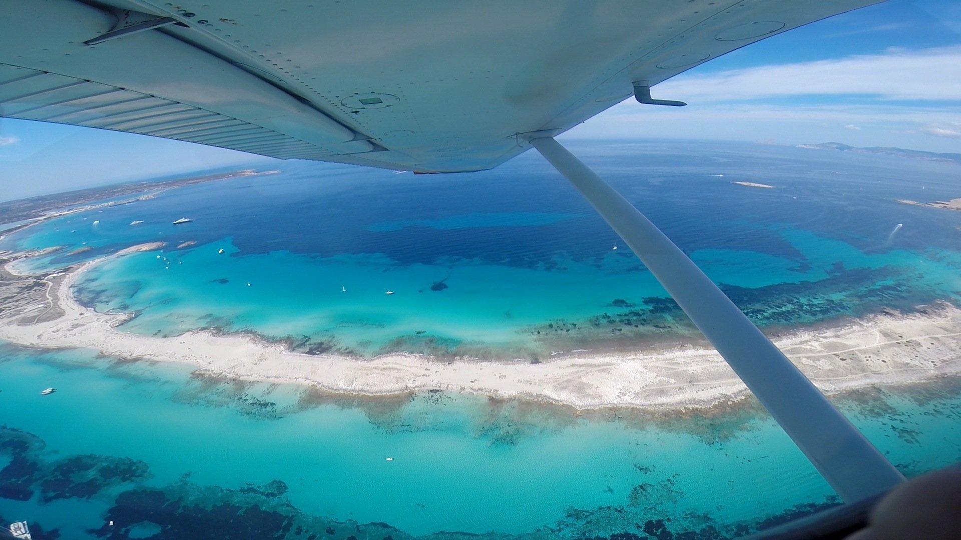 vuelo a Formentera island