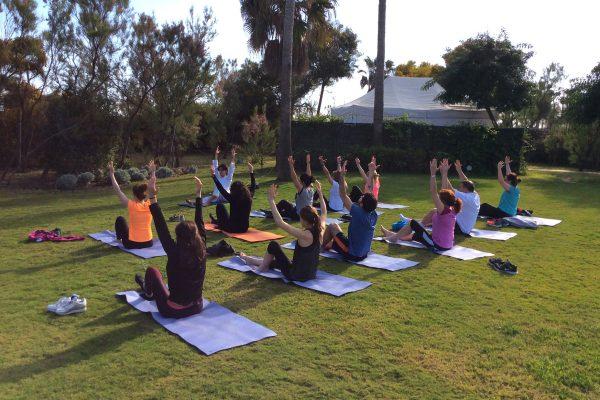 yoga team building